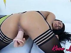 Kleine-Le0nie - Ich in hot Black Nylons Orgasmus Garantie...