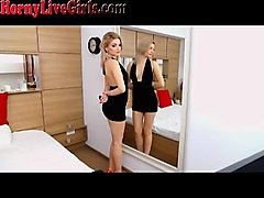 stunning blonde webcam slut teasing you