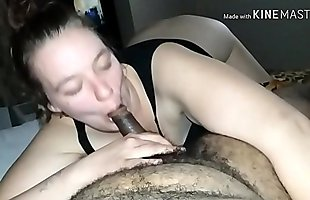 Dick sucking white smut likes her facial