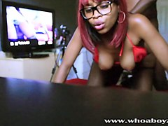 black teen ebony banks gets her first anal creampie