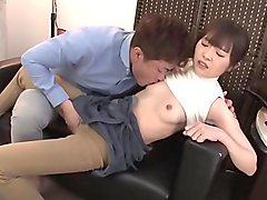 Braless japanese girl, with big nipples fucks in her job !! Part 1. Full 50min video: http://bit.ly/2I4YtpJ