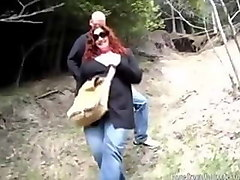 two chubby amateur lesbians play outside