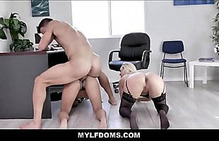 MILF Boss And Male Co-Worker Threesome Hot New Hire Petite Latina Teen