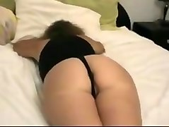 Uber hot milf ass and hairy pussy in a thong camisole