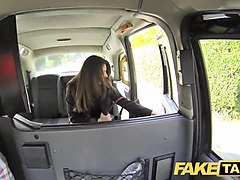 hd, cum on, brunette, taxi, cum