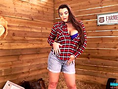 busty country chick cherry blush takes off her clothes and shows yummy plump ass