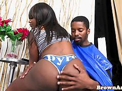 busty brown beauty plowed in pussy frombehind