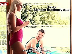 LETSDOEIT - Horny Step Mom Double Penetrated By Step Son And His Best Friend (Blanche Bradburry)
