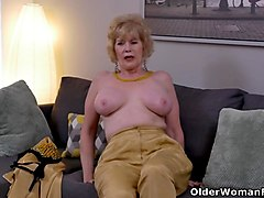 stripping, stripped, mom, older, mature