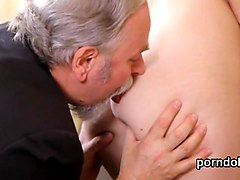 Sensual schoolgirl is seduced and reamed by her older instructor