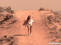 gabriella paltrova fucks in the desert