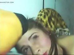 Latina girlfriend anal fucking with facial jizz