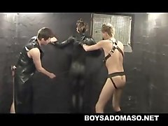 slave gets extreme discipline from two masters