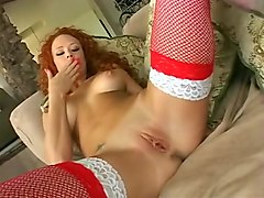 Fabulous pornstars Lucy Lee and Audrey Hollander in crazy redhead, masturbation adult clip