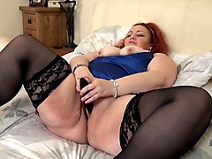 big woman playing with herself