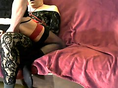 2 crossdresser playing together