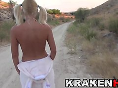 krakenhot - sweet funny bunny showing her body outdoor