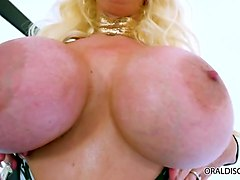 huge titted milf alura jenson sucking cock