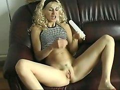 hungarian, blond, dildo, toy, masturbation