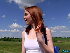 Redly in Redhead Student Fucked on a Hill - PublicAgent