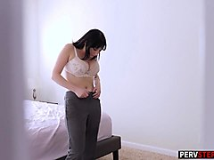 horny milf stepmom played with her mature wet pussy