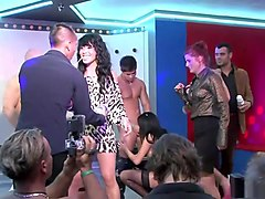 Hottest pornstars Carmen Blue, Nessa Devil and Rihanna Samuel in amazing interracial, group sex porn clip