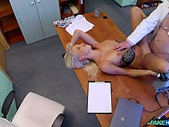 Best pornstar in Fabulous Blonde, Voyeur sex clip