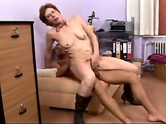 mature short haired lady rides stiff cock in reverse cowgirl pose