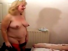 brit granny fucks while hubby films