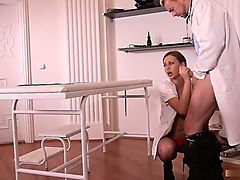 naughty head nurse tina kay is having dr. long cock...