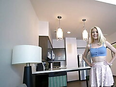 SisLovesMe - Cute Blonde Stepsis Catches Her Stepbrother Jer