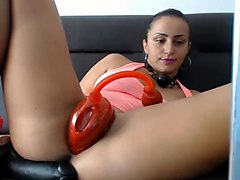 pussy pumping up and masturbation on webcam
