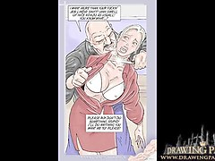sex comic book hot blonde boss tied up and fucked asshole