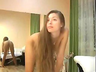 Petite blonde cam girl naked tease