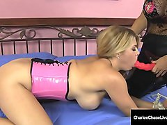 Mature Milf Charlee Chase Binds &amp_ Bangs Horny Slave Carissa!