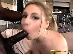blonde slut loves black cocks interracial pussy fucking