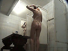 chubby milfs and lovely white young ladies in the public shower