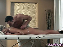 gorgeous babe assfucked by masseur