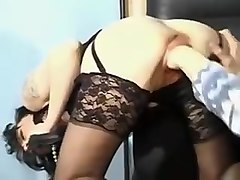 Incredible homemade Fisting, Stockings porn video