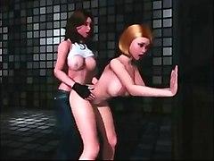 Big breasted futanari friends enjoying hardcore sex in 3D