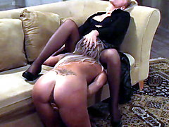 Pussy Licking Lesbian Slave Brings Mistress To Orgasm