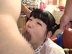 Baby Face Yuna Himekawa Deep Throat And Threesome On The Couch Wearing Her School Uniform Really Cute