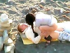 Ukrainians have a hardcore sex on the nudist beach