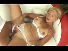 blonde granny sucks and fucks
