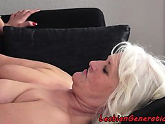 euro grandma rimmed by young hottie