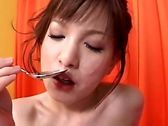 Japanese girl banged and drinks pee