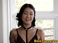 skull fucked asian jizzed