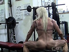 female bodybuilder, hd, mature, matures, blond