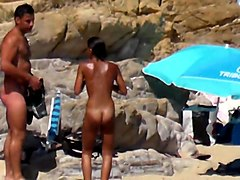 Naked arab girl playing water tennis tanned lines sunbathing