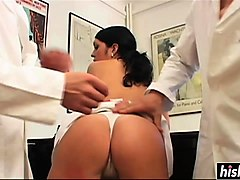 hot girl gets fucked by two doctors